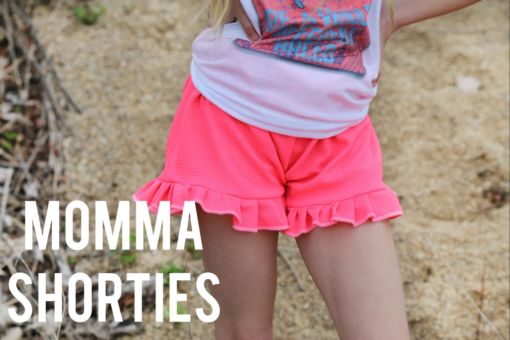 Neon Momma Shorties - Little Southern Swag
