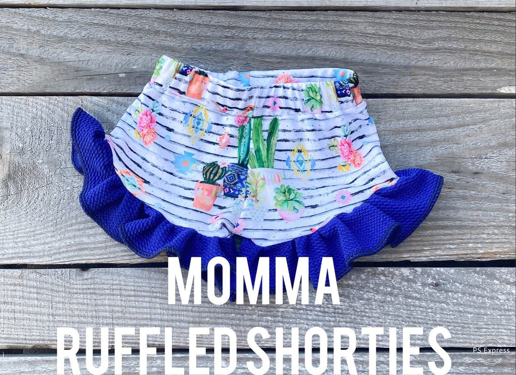 Momma Fairy Cactus Ruffled Shorts - Little Southern Swag