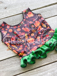 Pumpkin Floral Tank Top