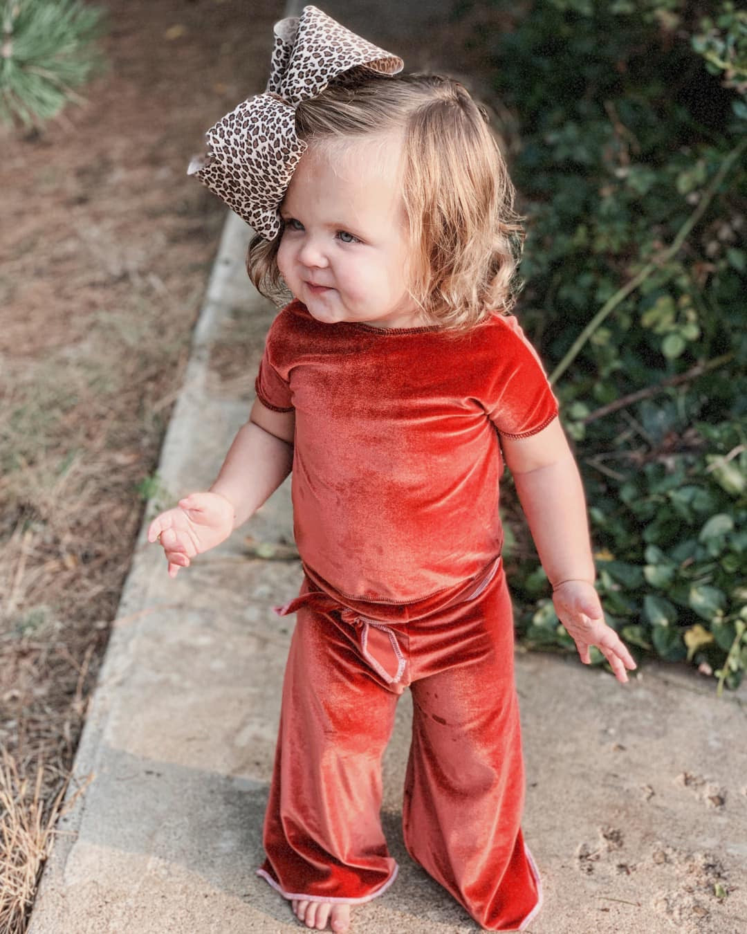 Belted Burnt Orange Palazzos - Little Southern Swag