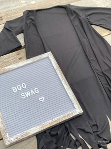 Black Basic Duster - Little Southern Swag
