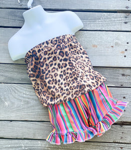 Serape Wild Cinch Shortie Romper