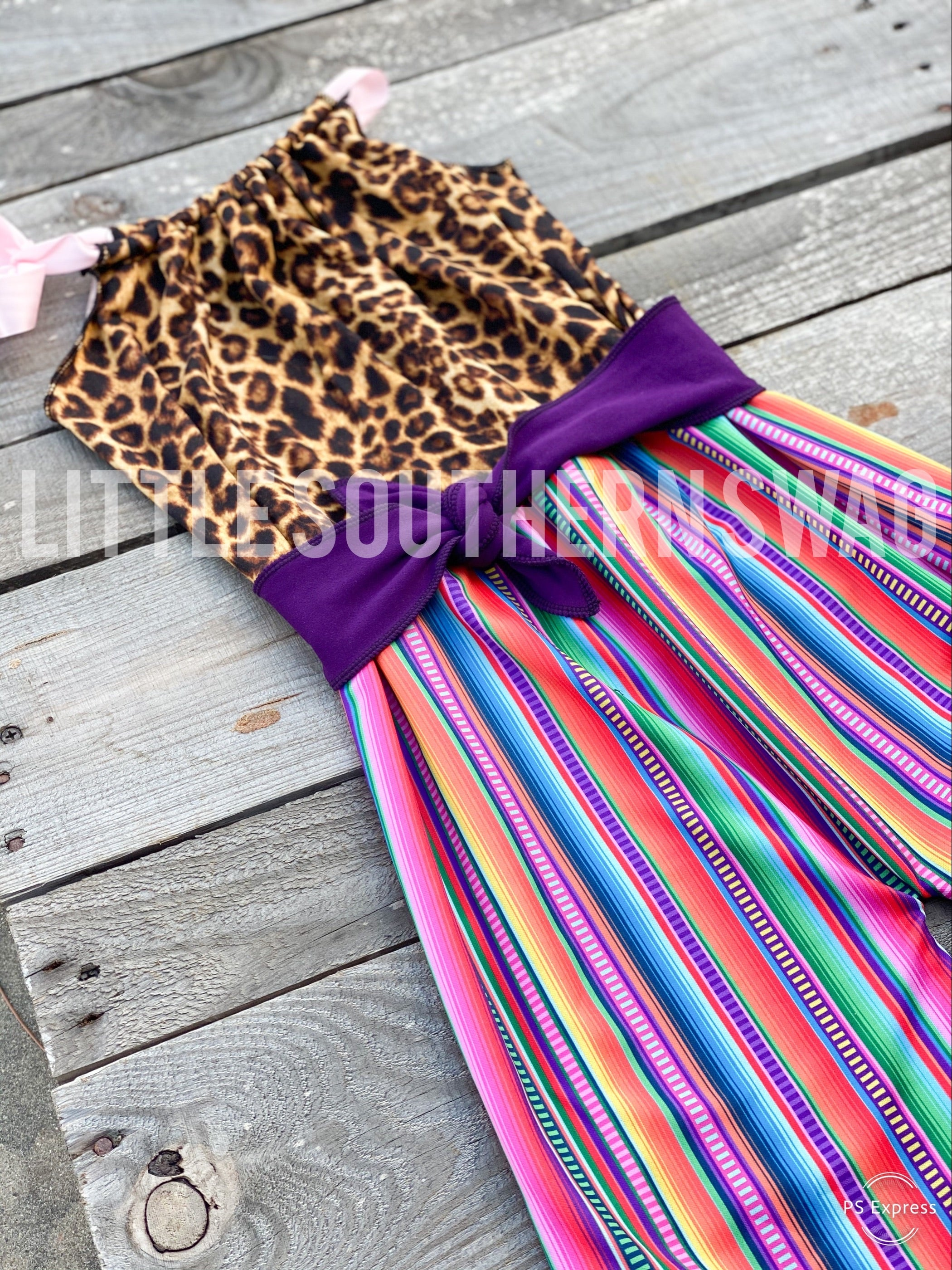 Serape Wild Belted Romper - Little Southern Swag