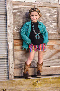 OG Serape Shorties - Little Southern Swag