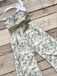 Soldier Belted Romper - Little Southern Swag