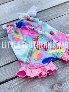 Pool Side Ruffled Romper - Little Southern Swag