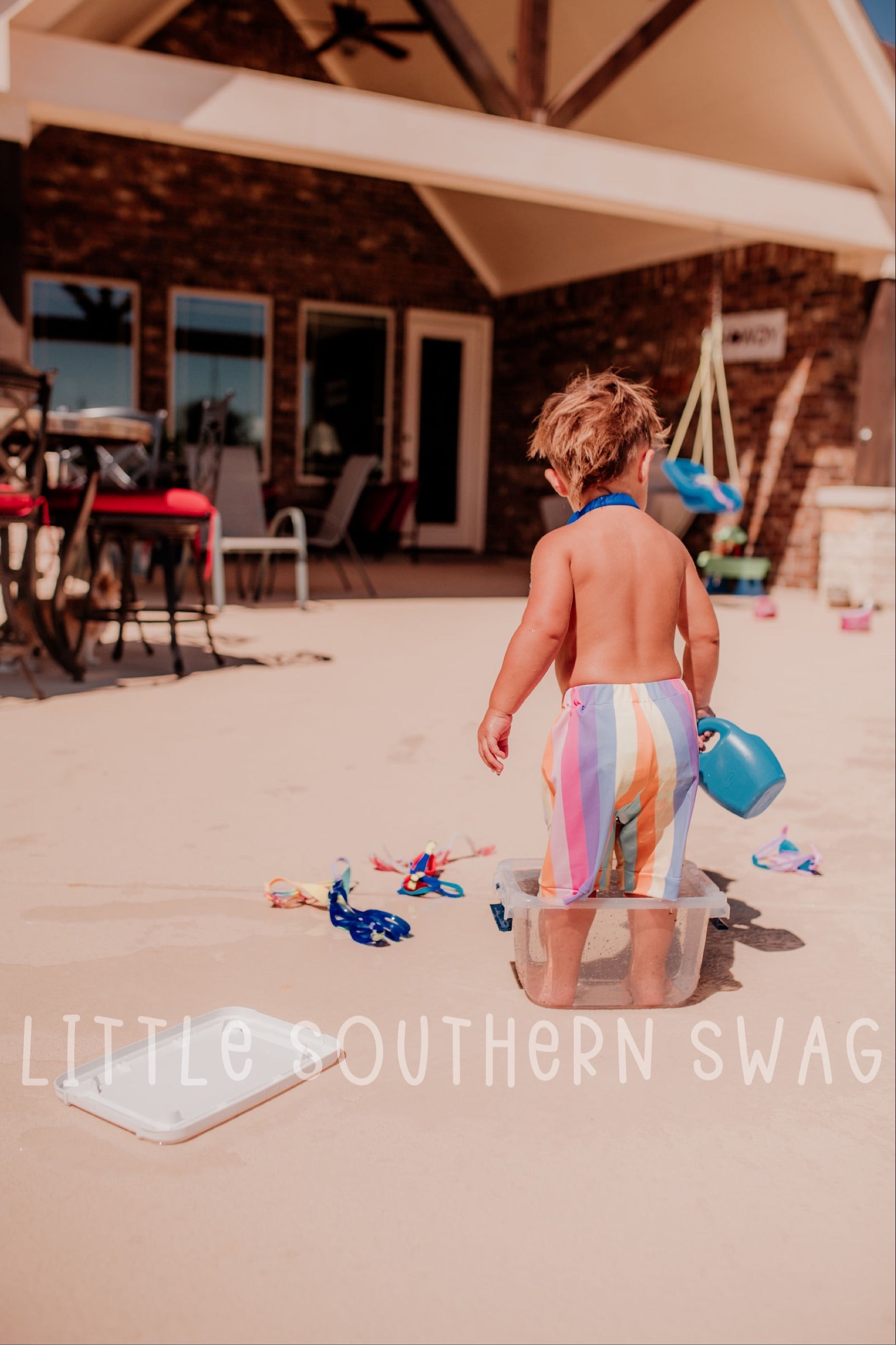 Summer Rainbow Boy Swim Bottoms - Little Southern Swag