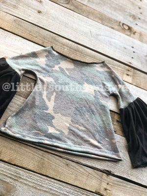 Bell Sleeved Camo - Little Southern Swag