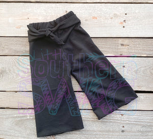 Belted Black Palazzos - Little Southern Swag