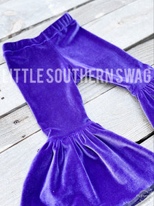 I Purple You Velour Bells - Little Southern Swag