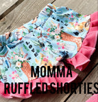 Kelsi's Swag Momma Ruffled SHorties - Little Southern Swag