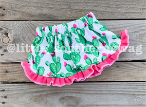 Cactus Ruffled Shorties - Little Southern Swag