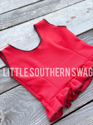 Basic Pleated Ruffle Top - Little Southern Swag