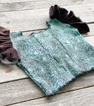 Tooled Turquoise Top