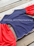 Bell Sleeved Sailor - Little Southern Swag