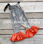 Burnt Camo Romper - Little Southern Swag