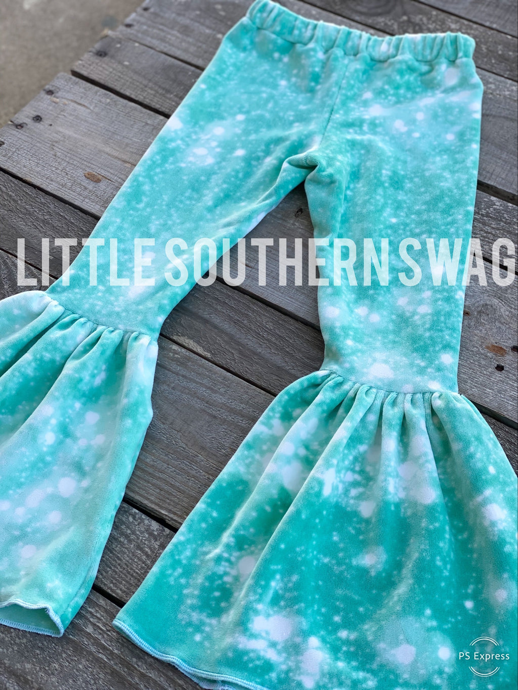 Acid Washed Tiffany Blue Bells - Little Southern Swag