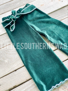 Evergreen Belted Palazzos