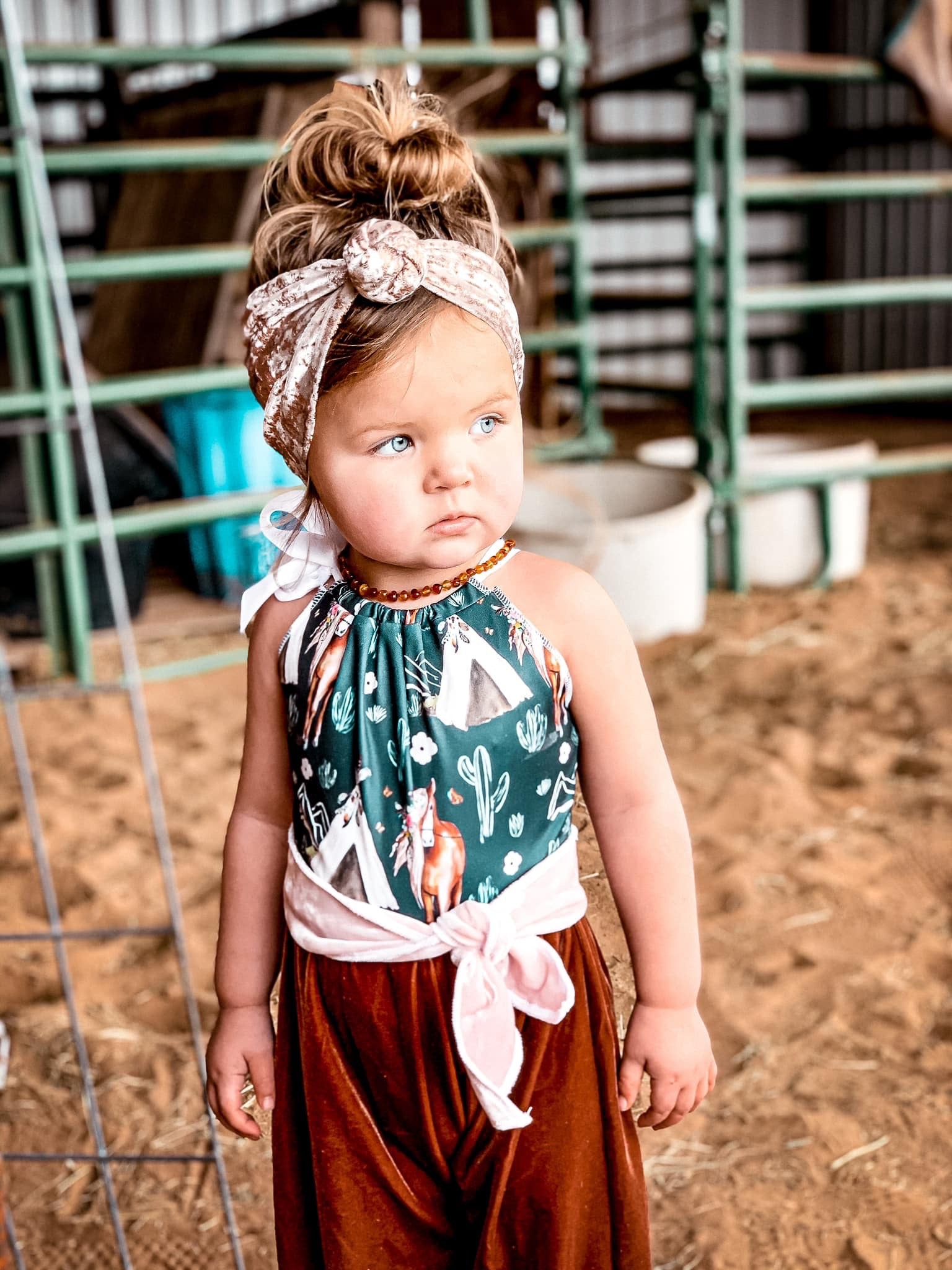 Wild Horses Belted Romper - Little Southern Swag