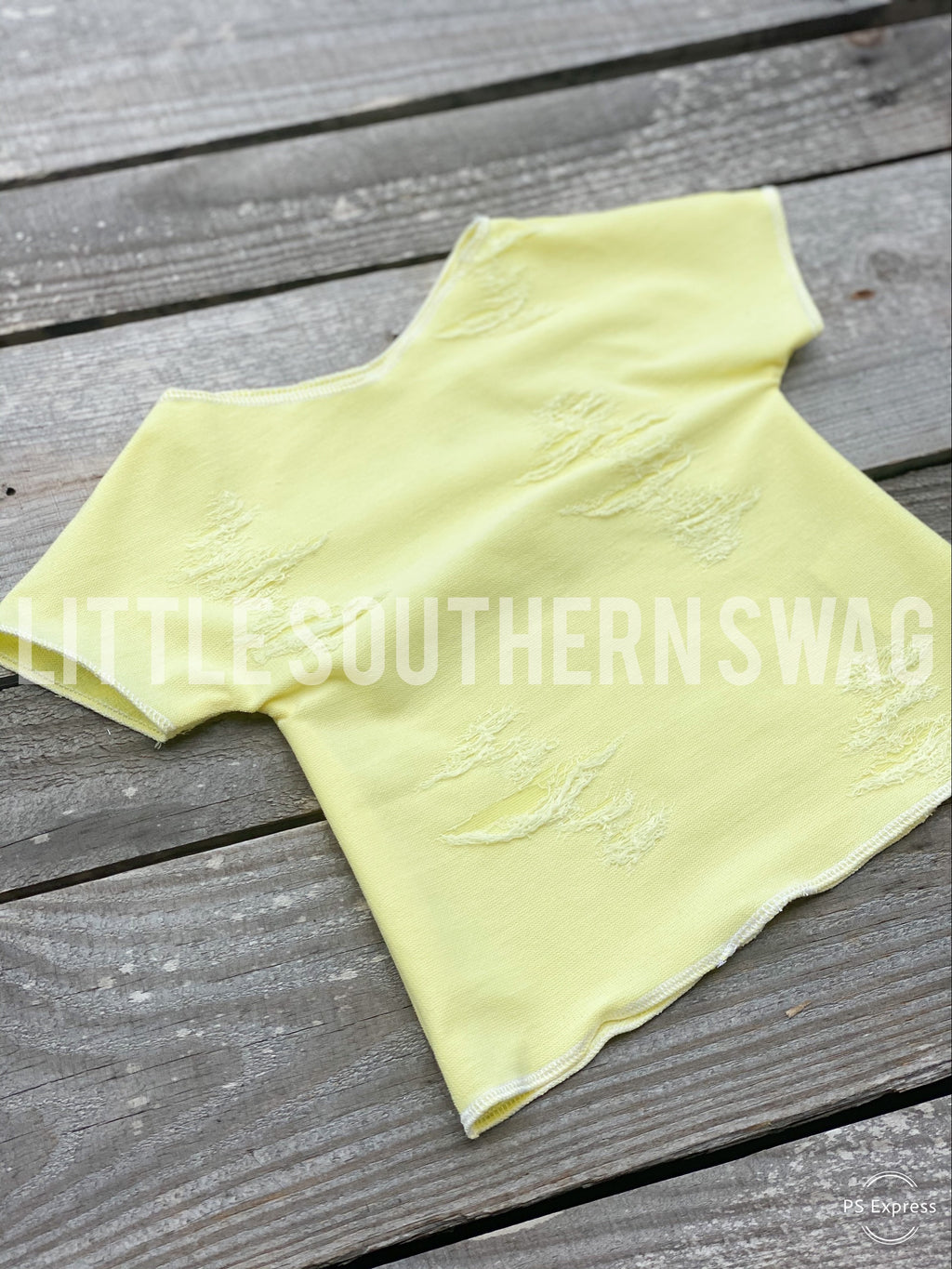 Lemon Distressed Top - Little Southern Swag