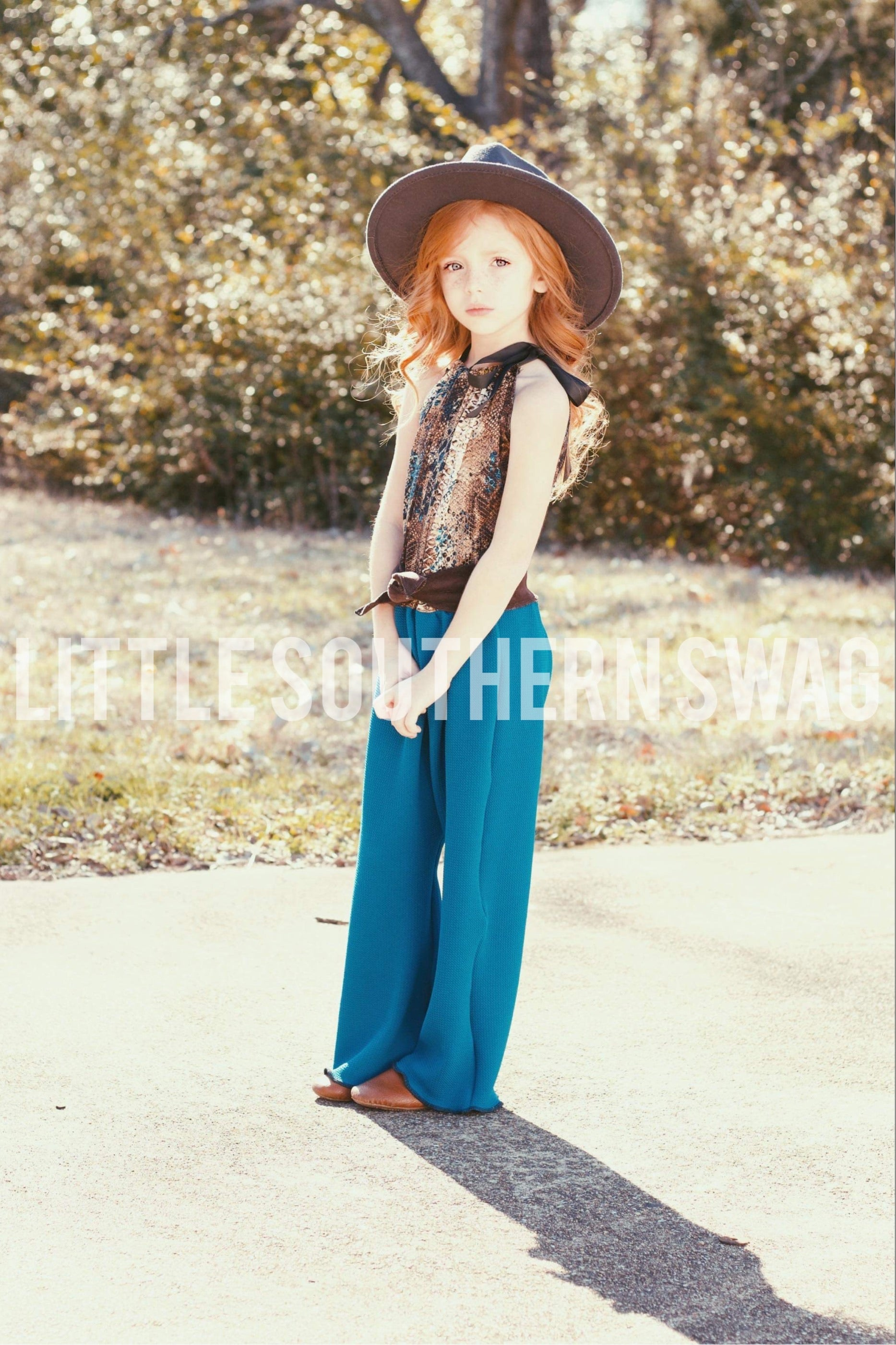 Rodeo Rattler Belted Romper - Little Southern Swag