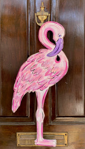 Flamingo Door Hanger