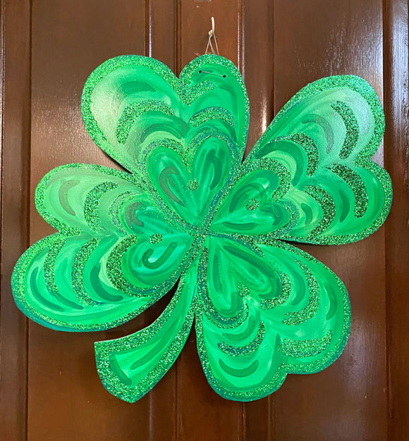 Four Leaf Clover Door Hanger