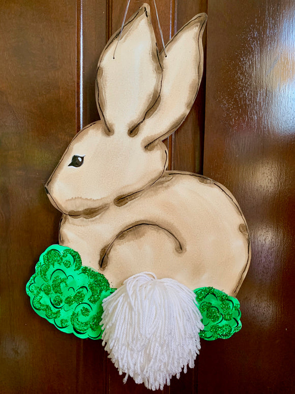 Bunny with Pom-Pom Door Hanger