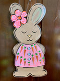 Bunny with Flower Door Hanger