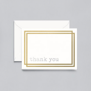 Crane Foil Thank You Notes