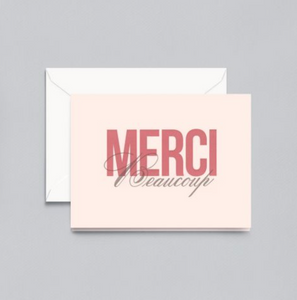Crane Letterpress Merci Beaucoup Thank You Notes