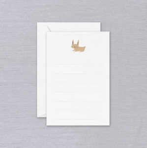 Crane Lined Bunny Correspondence Cards