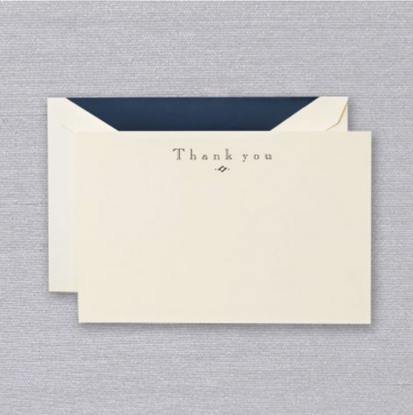 Crane Navy Thank You Cards