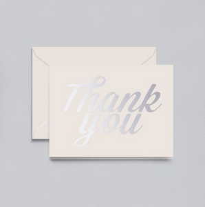 Crane Foil Script Thank You Notes