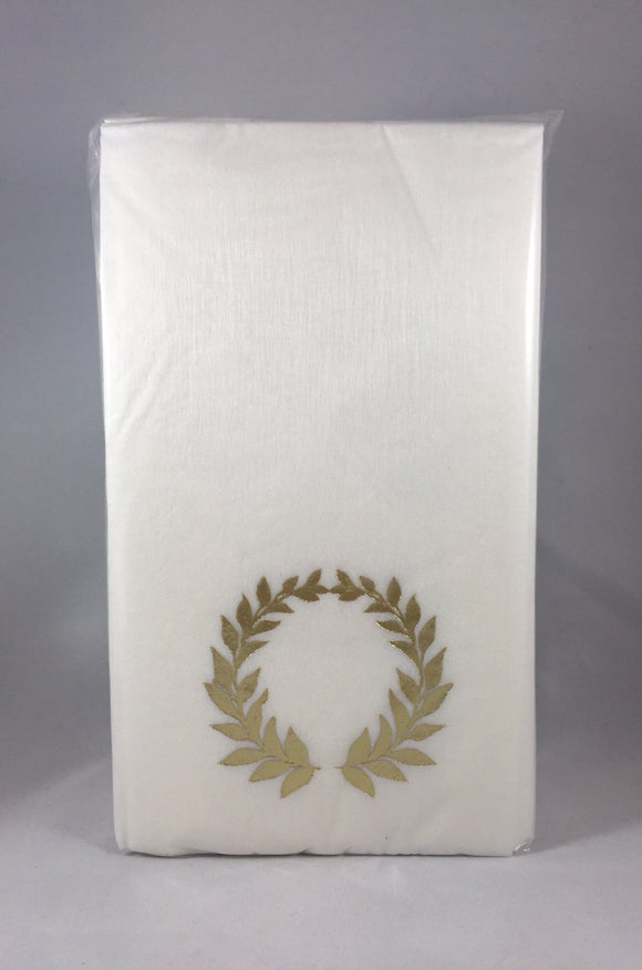 Caspari Gold Wreath Hand Towels