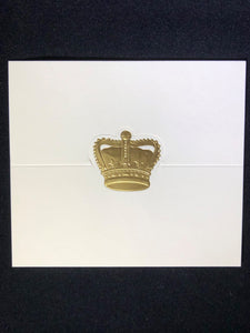 Gold Crown Place Cards