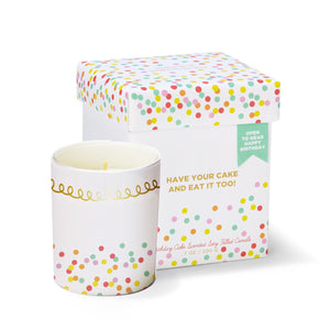 Birthday Cake Scented Candle with Music Box