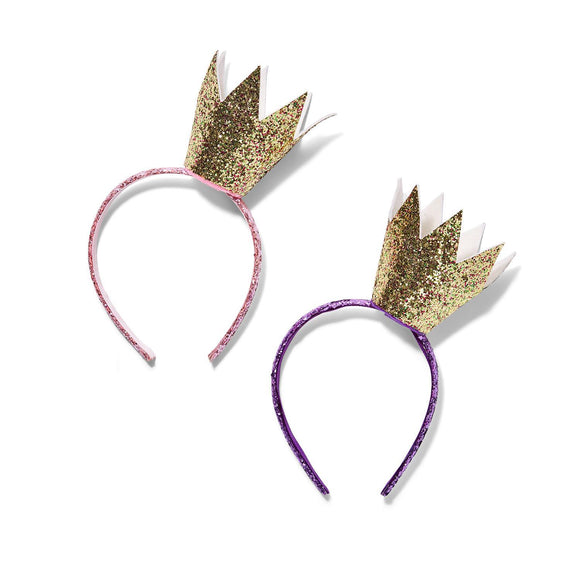 Glitter Crown Headband