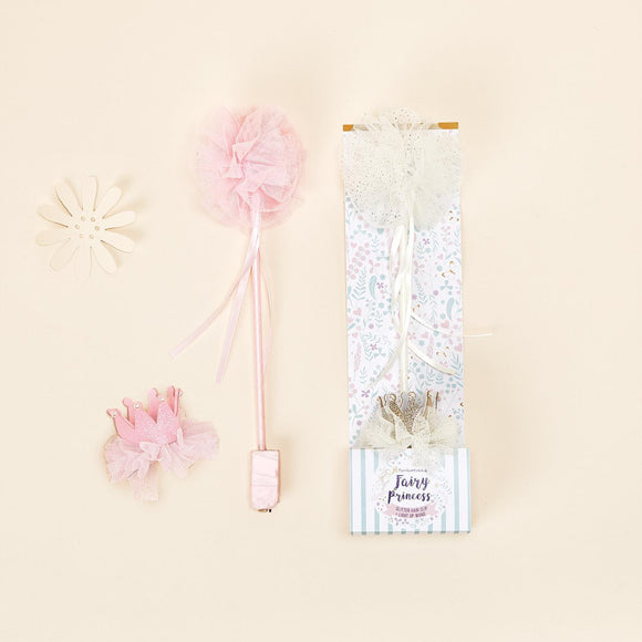 Fairy Princess Light Up Wand and Crown Hair Clip