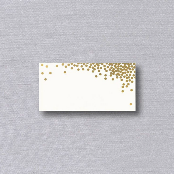 Vera Wang Gold Confetti Place Cards