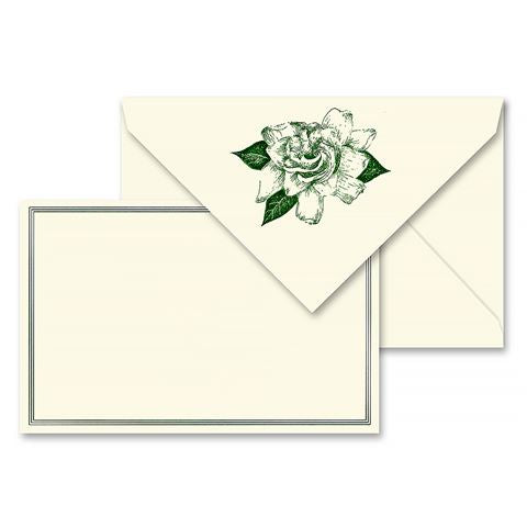 Vera Wang Engraved Gardenia Correspondence Card Set