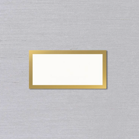 Gold Bordered Place Cards