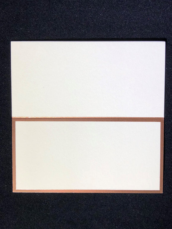 Rose Gold Bordered Place Cards