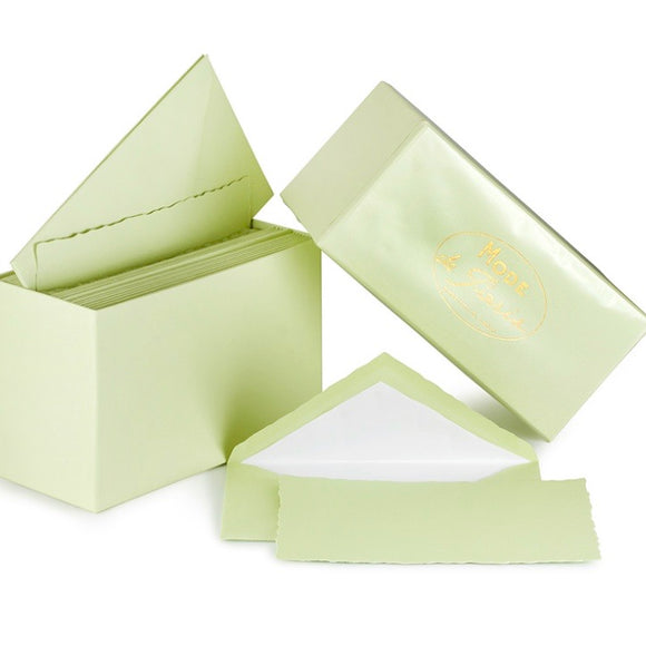 G. Lalo Mode de Paris Boxed Stationery in Pistachio