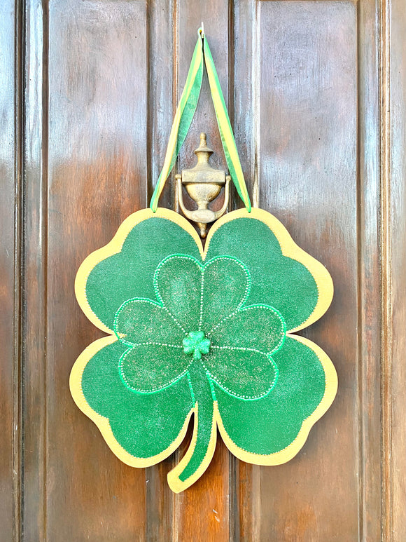Double Sided Four Leaf Clover Door Hanger