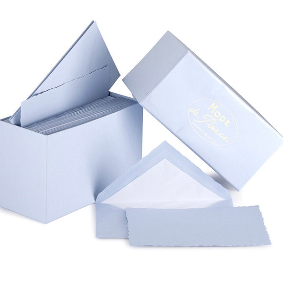 G. Lalo Mode de Paris Boxed Stationery in Blue
