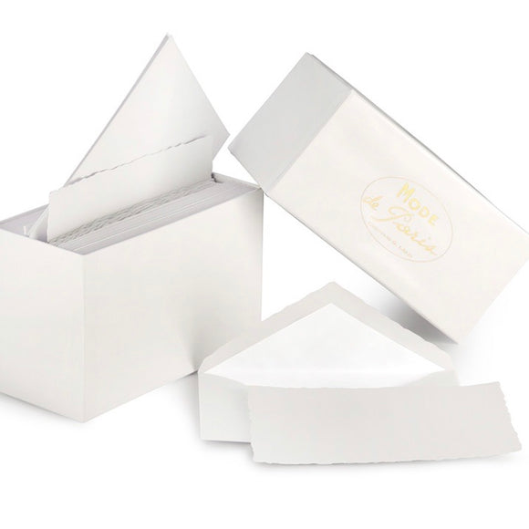 G. Lalo Mode de Paris Boxed Stationery in White