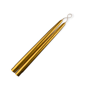 Metallic Gold Tapers- 1 Pair