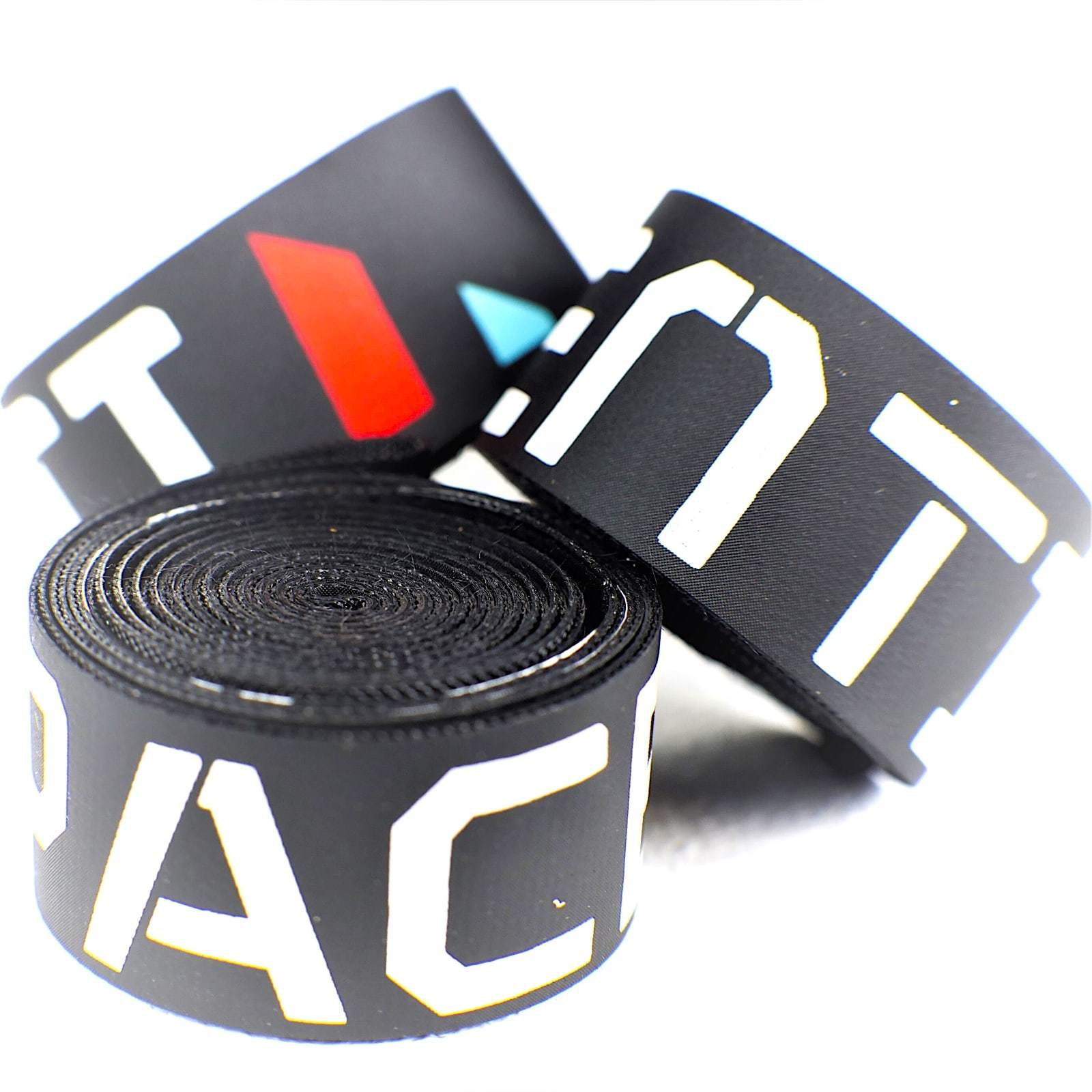 Rim tape 19mm snap fit pair, Black printed