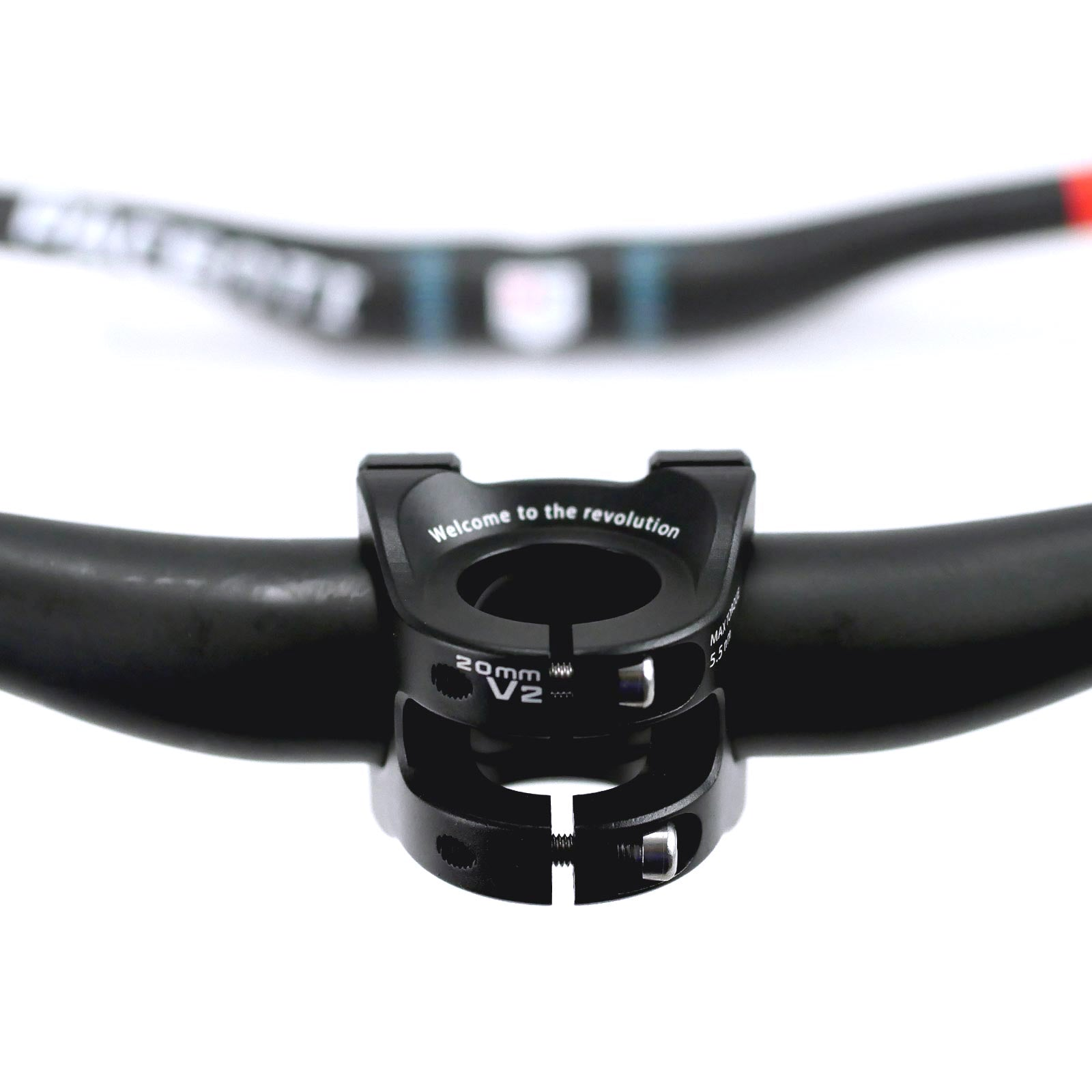 P-dent carbon bar and stem set 25mm rise